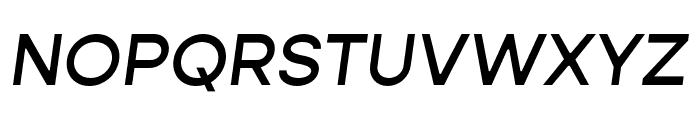 Gopher Text Medium Italic Font UPPERCASE