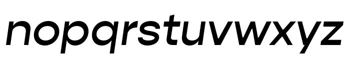 Gopher Text Medium Italic Font LOWERCASE