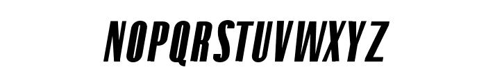Gothink-blackItalic Font UPPERCASE
