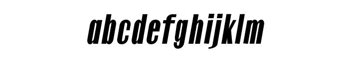 Gothink-blackItalic Font LOWERCASE