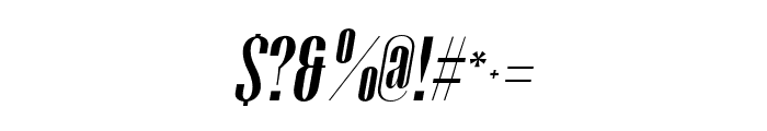 Gothink-boldItalic Font OTHER CHARS