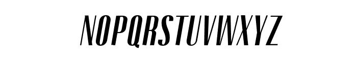 Gothink-boldItalic Font UPPERCASE