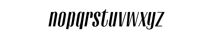 Gothink-boldItalic Font LOWERCASE