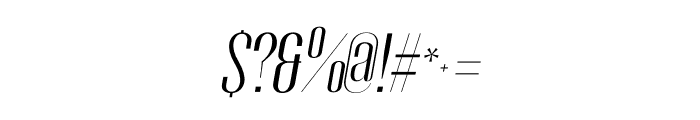 Gothink-bookItalic Font OTHER CHARS