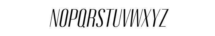 Gothink-bookItalic Font UPPERCASE