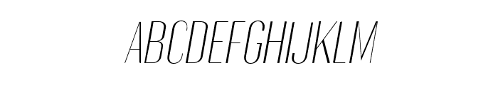 Gothink-extra-light-italic Font UPPERCASE