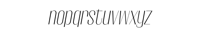 Gothink-extra-light-italic Font LOWERCASE