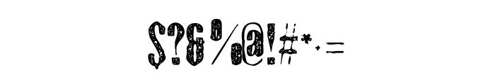 Gothink-extraboldaged Font OTHER CHARS