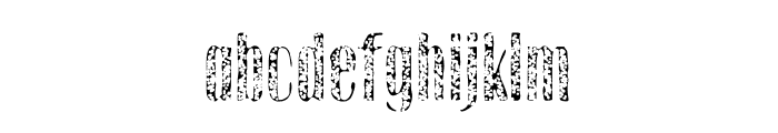 Gothink-extraboldaged1 Font LOWERCASE