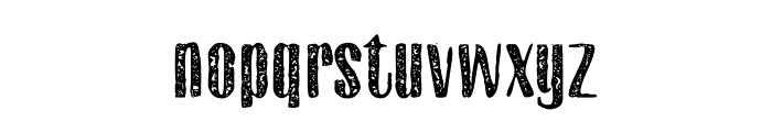 Gothink-extraboldaged Font LOWERCASE