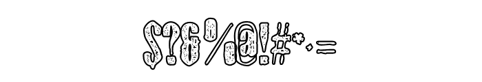 Gothink-extraboldagedoutline Font OTHER CHARS