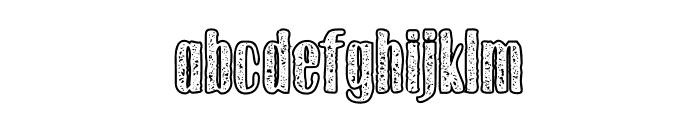Gothink-extraboldagedoutline Font LOWERCASE