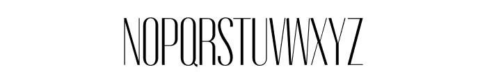 Gothink-light-condensed Font UPPERCASE