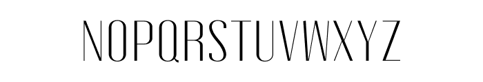 Gothink-light-semi-expanded Font UPPERCASE