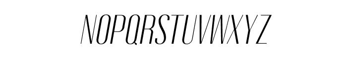 Gothink-lightItalic Font UPPERCASE
