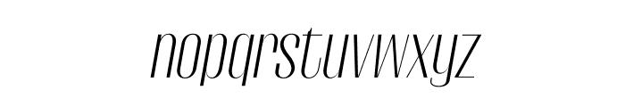 Gothink-lightItalic Font LOWERCASE
