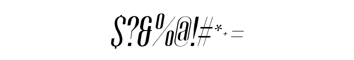 Gothink-regularItalic Font OTHER CHARS
