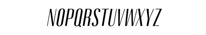Gothink-regularItalic Font UPPERCASE