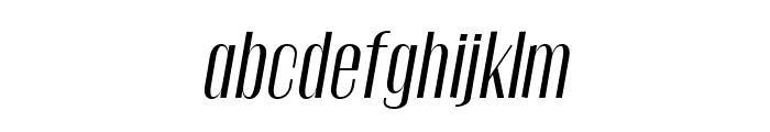 Gothink-regularItalic Font LOWERCASE