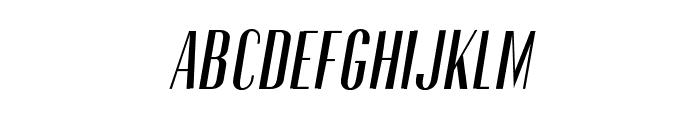 Gothink-semiboldItalic Font UPPERCASE