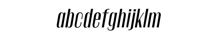 Gothink-semiboldItalic Font LOWERCASE