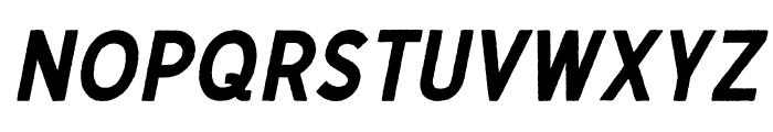 Gutenberg Clean Italic Font UPPERCASE