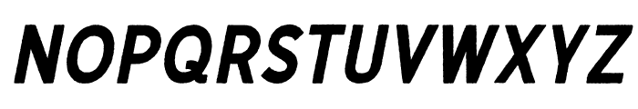 Gutenberg Clean Italic Font LOWERCASE