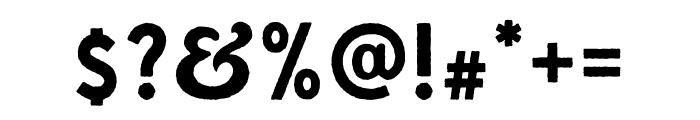Gutenberg Clean Regular Font OTHER CHARS