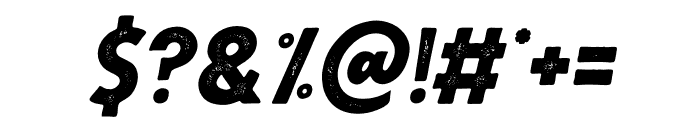 Gutter Italic Rust Font OTHER CHARS