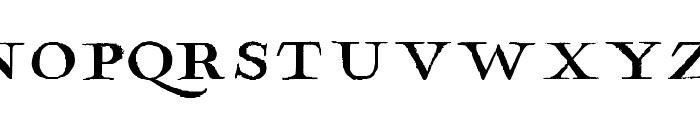 Hamilton Serif Painted Font UPPERCASE