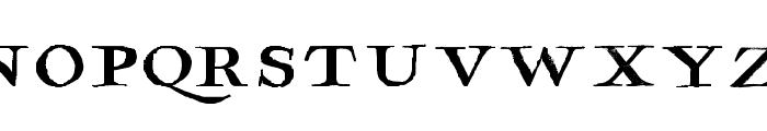 Hamilton Serif Painted Font LOWERCASE