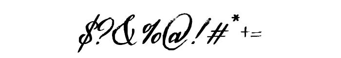 HamiltonScriptPainted Font OTHER CHARS