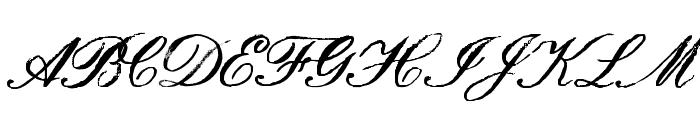HamiltonScriptPainted Font UPPERCASE
