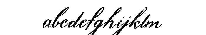 HamiltonScriptPainted Font LOWERCASE