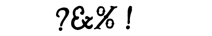 HandMade in America Regular Font OTHER CHARS