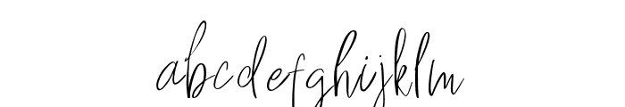 Hey Fonallia Handwritting Font LOWERCASE
