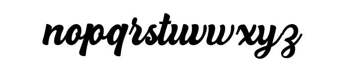 Hillstand Font LOWERCASE