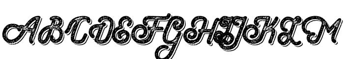 Hometown Script Bold Rough Shadow Font UPPERCASE