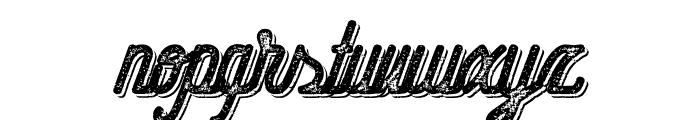 Hometown Script Bold Rough Shadow Font LOWERCASE