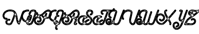 Hometown Script Bold Rough Font UPPERCASE