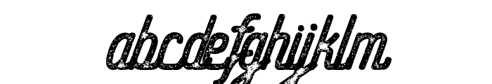 Hometown Script Bold Rough Font LOWERCASE