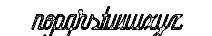 Hometown Script Rough Font LOWERCASE