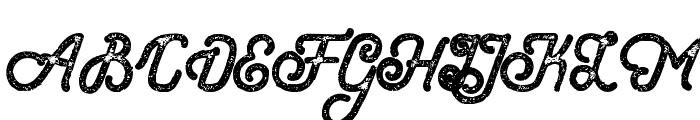 HometownScriptBoldRough Font UPPERCASE
