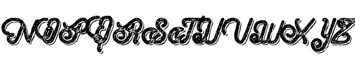 HometownScriptBoldRoughShadow Font UPPERCASE