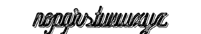 HometownScriptBoldRoughShadow Font LOWERCASE