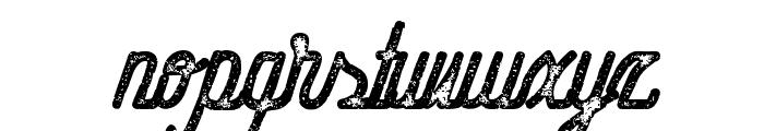 HometownScriptBoldRough Font LOWERCASE