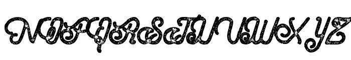 HometownScriptRough Font UPPERCASE