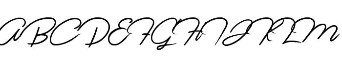 Jasmine Script Font UPPERCASE