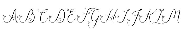 JasmithaScript Font UPPERCASE