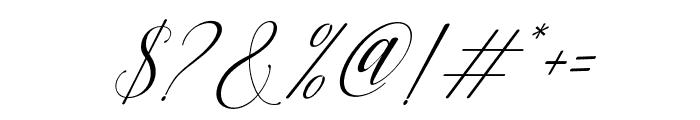 KatrinaScriptSlant Font OTHER CHARS